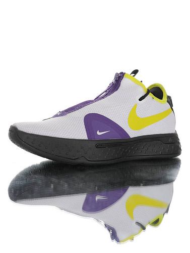 "Nike PG4 EP ""Purple Yellow"" 黑白奥利奥来袭 保罗乔治4代系列签名文化运动蓝球鞋 白黑奥利奥泼墨配色 CD5082-501"