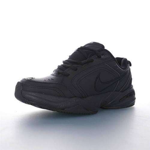 Nike Air Monarch IV 性价比的时尚复古老爹鞋 耐克帝王4代复古老爹百搭休闲慢跑鞋 皮革黑武士配色 415445-001