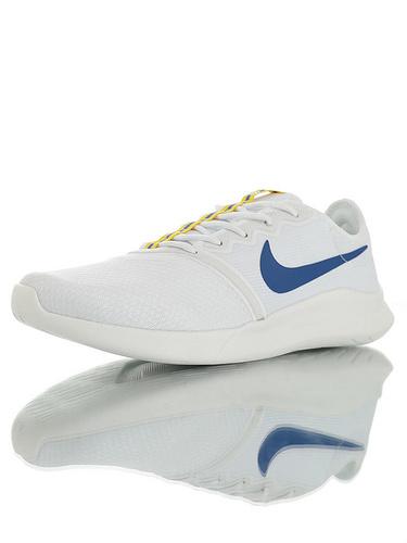 Nike Viale Tech Racer 具开发打造 透气防臭网面 耐克维亚尔赛车系列网面轻便运动休闲跑步鞋 白宝蓝黄配色