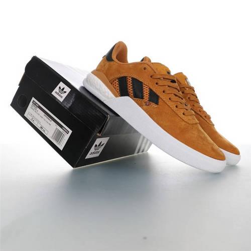 Adidas Originals Skateboarding 3ST.004 Suede 阿迪达斯爆米花缓震低帮休闲运动专业滑板板鞋 麂皮棕黑白金配色 EE6161