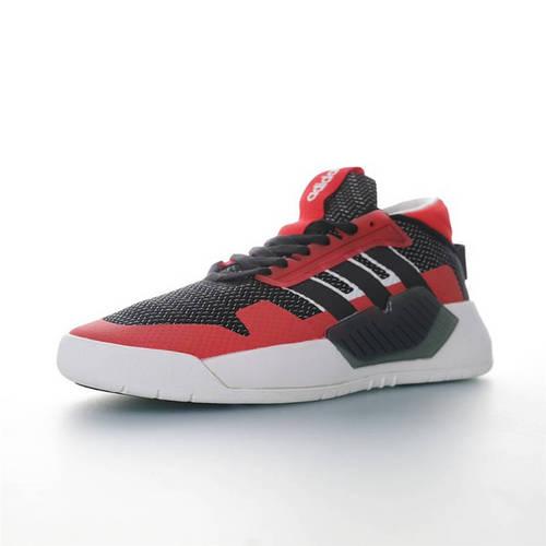 Adidas Originals BBALL 90S 阿迪达斯三叶草新品 低筒帮休闲运动百搭板鞋 黑红白配色 EF0604