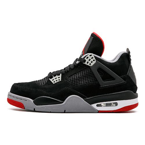 """Air Jordan 4""""Bred"""" 2019 钩子屁股 黑红配色  308497-060"""