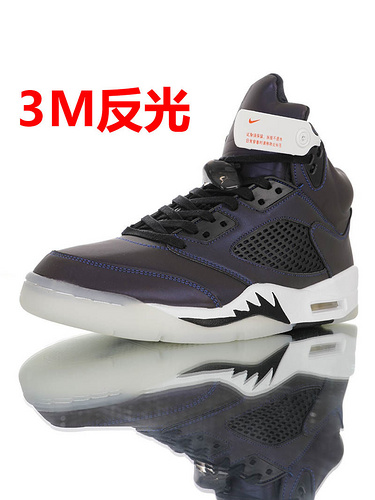 "Air Jordan 5 Retro ""Iridescent Oil Grey"" 炫彩反光 乔丹AJ5代篮球鞋 午夜蓝变色龙炫彩配色 CD2722-001"