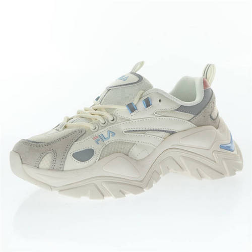Fila Sport Interaction 奶白灰浅蓝粉3M反光 1JMO1283-152