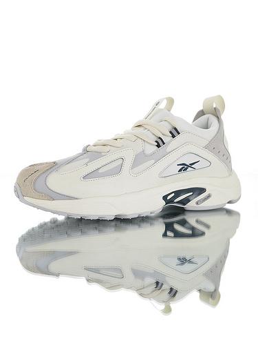 Wanna One x Reebok DMX Series1200 团体代言款 销量冠军 正确磨具打造完美鞋型 复古休闲增高运动老爹慢跑鞋 奶油白灰夜蓝配色