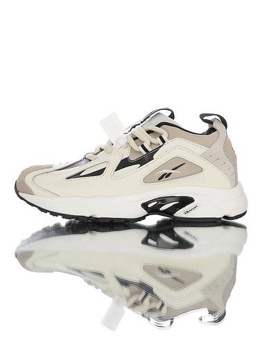 Wanna One x Reebok DMX Series1200 团体代言款 韩国出口版本 硬质移膜皮革鞋面 复古休闲增高运动老爹慢跑鞋 奶油白灰黑配色
