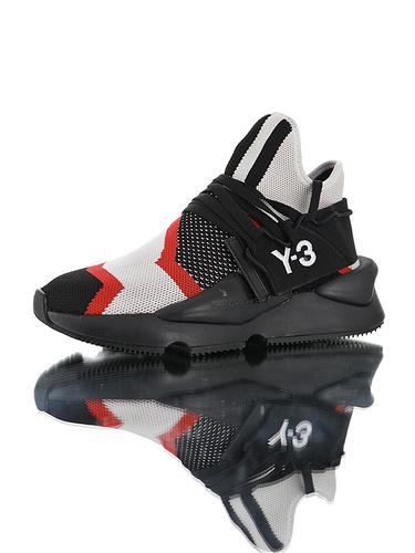 Adidas Y-3 Kusari II Leather YohjiYamamoto三本耀司 库萨日系列复古老爹鞋 RB厚重大底制 全头层皮鞋面 超软皮内脚垫 红斑马配色
