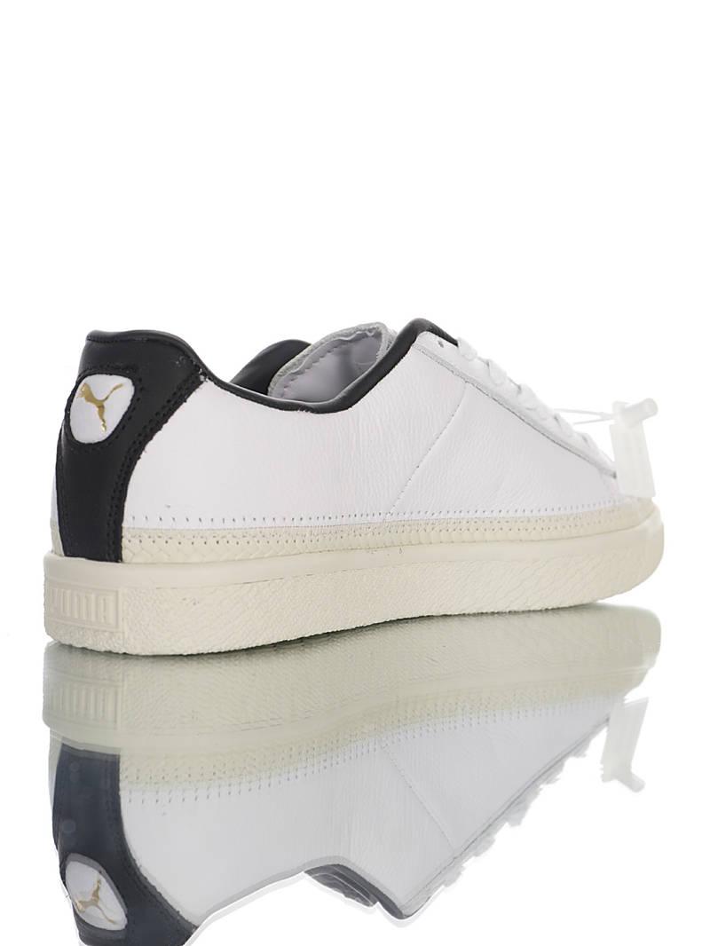 Disney x Puma Suede Trim Sneakers 迪士尼联乘 头层皮拼缝鞋面 正确二代大底制 彪马克莱德金标系列 白米黑米奇配色 369641-01