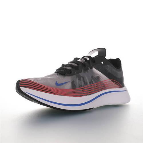 """Nike Zoom Fly SP """"Shangha"""" 上海马拉松限定 耐克飞行马拉松蝉翼系列休闲运动慢跑鞋 深灰鸳鸯宝蓝桔红白配色 BQ6896-001"""