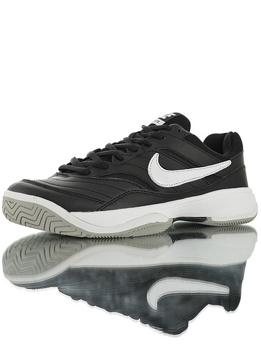 "Nike Court Lite ""Black White"" 具开发打造 正确移膜革排气材质鞋面 最新高品质版本 耐克学院网球复古休闲运动慢跑鞋 黑白配色"