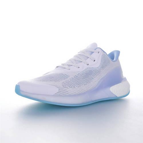 Adidas Lava Boost 阿迪达斯阿尔法火山爆米花系列休闲运动慢跑鞋 透气冰纱白冰蓝配色 FX1211