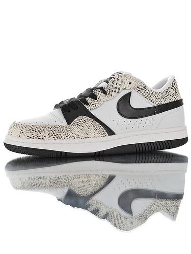 Nike Court Force Low Premium 25周年纪念限定 全新具开发 正确多材质品质还原细节 耐克网球空军系列低帮复古运动板鞋 蟒蛇纹白黑底配色