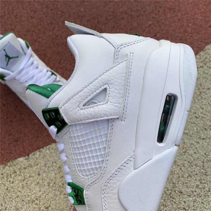 "Air Jordan 4 GS ""Pine Green"" 白绿金属配色 408452-113"
