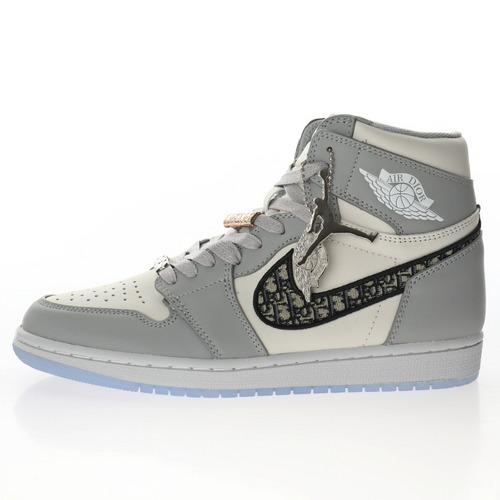 """Dior x Air Jordan Brand 1 High OG """"Grey"""" 白灰冰蓝迪奥""""CN8607-002"""