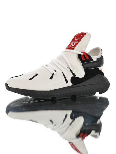 Adidas Y-3 Kusari II Leather YohjiYamamoto三本耀司 库萨日系列复古老爹鞋 RB厚重大底制 全头层皮鞋面 超软皮内脚垫 米黑红配色