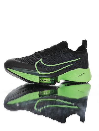 Air Zoom Tempo NEXT% 突破极致表现 2020全新耐克 竞速马拉松气垫轻量超跑竞速运动慢跑鞋 黑能量绿配色 CZ1514-400