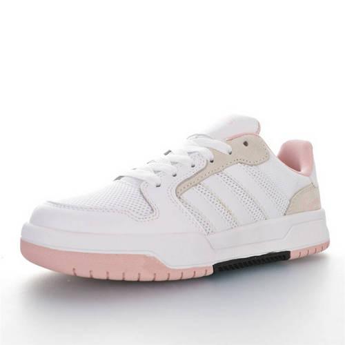 Adidas Neo ENTRAP 2020ss春夏新品 阿迪达斯追赶系列轻便休闲运动百搭板鞋 网白浅灰粉黑熊猫配色 FX4026