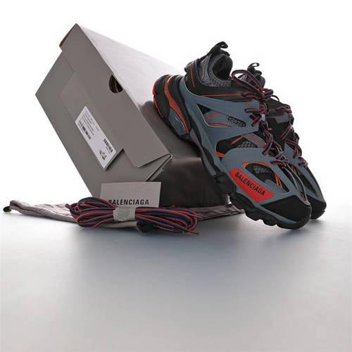 Balenciaga Track Trainers 巴黎世家 3.0代复古野跑姥爹潮流百搭慢跑鞋 黑深灰红配色 542023 W2LA1 4229