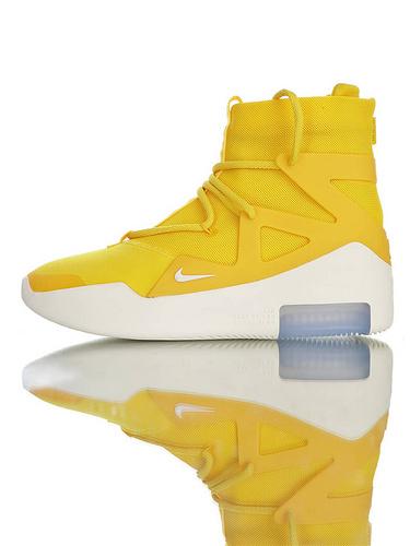 【40---48】Fear of God x Nike Fear of God 1 2019神级之鞋 恐惧之神联名 高丝光牛津网布 韩国进口拉链扣 充正混卖级别 搭载真纤维柱 柠檬配色