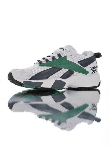 Reebok Interval 96 陈伟霆明星同款 全新具开发打造 时隔二十三年的立体大LOGO设计 美国锐步间隙系列复古休闲运动老爹慢跑鞋 白夜蓝深绿配色