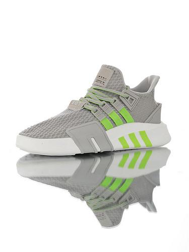 EQT Basketball ADV 中帮机能编织潮鞋 高性价比绝对值版本 蜂窝呼吸灰荧光绿配色