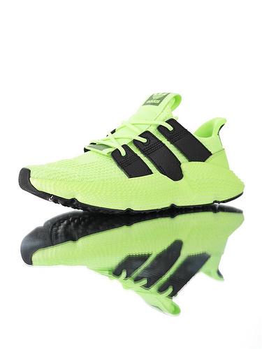 Originals Prophere Angelababy杨颖代言款 刺猬套脚飞织百搭慢跑鞋 针织荧光绿黑配色