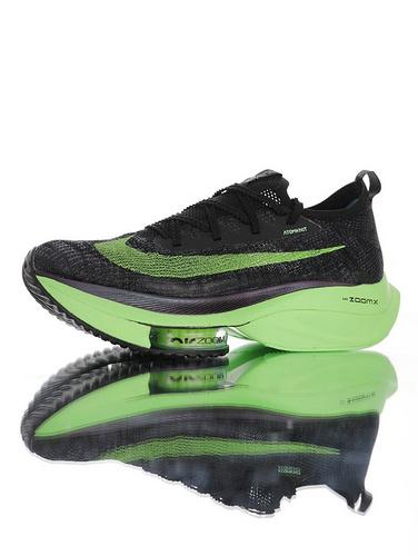 Air Zoom Alphafly NEXT% 助力运动员突破极限 耐克破2代马拉松气垫轻量超跑竞速运动慢跑鞋 黑炭灰能量绿配色 CI9925-400
