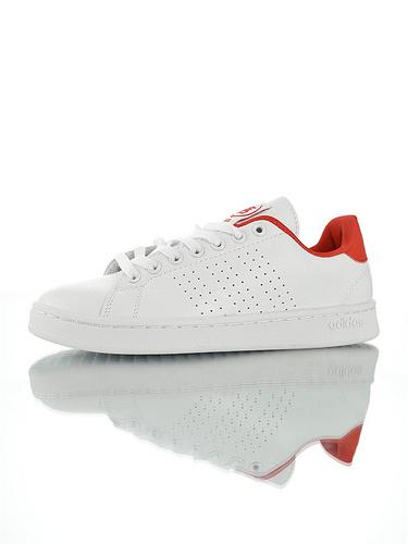 Adidas Neo Grand Court 2019阿迪达斯生活系列 具开发打造 学院风休闲运动小白板鞋 白大学红配色