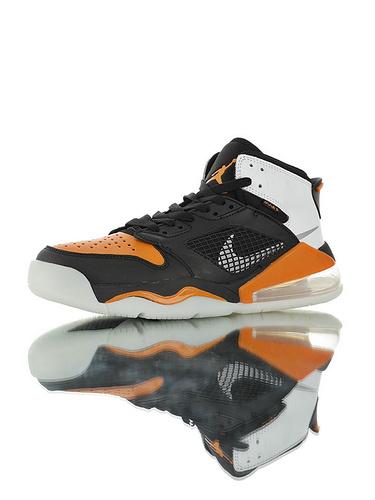 """Jordan Mars 270 """"Shattered Backboard"""" 后掌回弹气垫大底 火星之子混合鞋面高帮休闲运动篮球鞋 皮革黑橘白扣碎配色"""