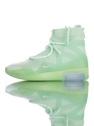 【40---48】Fear of God x Nike Fear of God 1 2019神级之鞋 恐惧之神联名 高丝光牛津网布 韩国进口拉链扣 充正混卖级别 搭载真纤维柱 冻绿配色