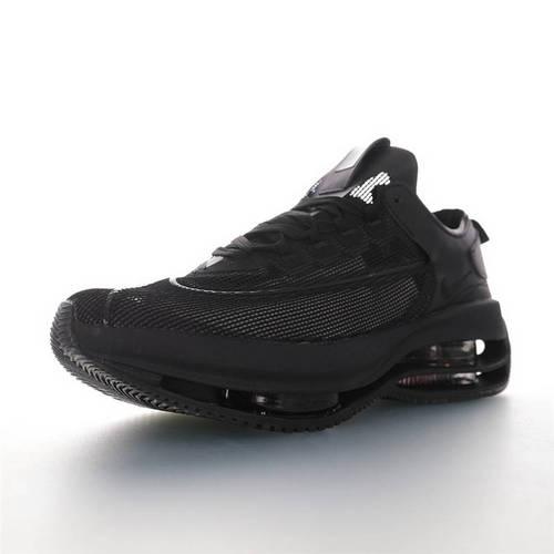 Nike WMNS Zoom Double Stacked 2020全新耐克 双层8块堆叠气垫前卫超跑竞速运动慢跑鞋 半透明纯黑配色 CI0804-800