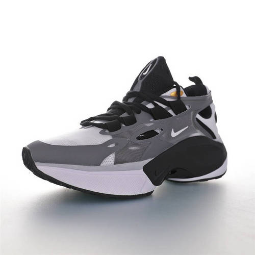 Nike Signal D/MS/X 让运动变得更高端时尚 复古老爹风增高效果 耐克邂逅系列休闲运动老爹风慢跑鞋 深灰黑白配色 AT5303-126
