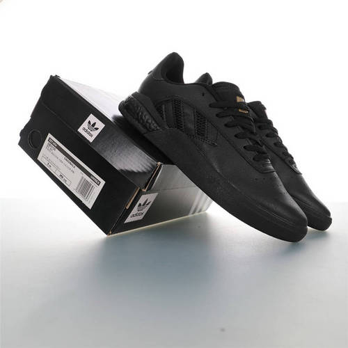 Adidas Originals Skateboarding 3ST.004 Suede 阿迪达斯爆米花缓震低帮休闲运动专业滑板板鞋 皮革武士黑金配色 DB3155