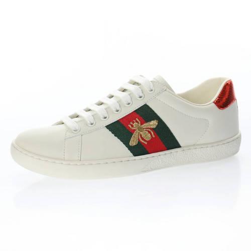 G家 Ace Embroidered Low-Top 拼色刺绣系列低帮潮流百搭休闲板鞋 米白绿红刺绣小蜜蜂配色 429446 A39G O9085