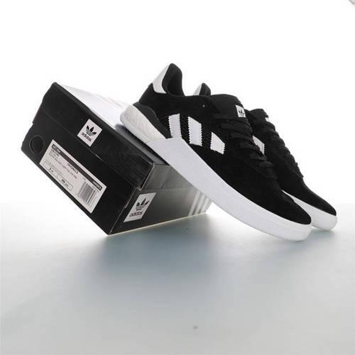 Adidas Originals Skateboarding 3ST.004 Suede 阿迪达斯爆米花缓震低帮休闲运动专业滑板板鞋 麂皮黑白配色 DB3149