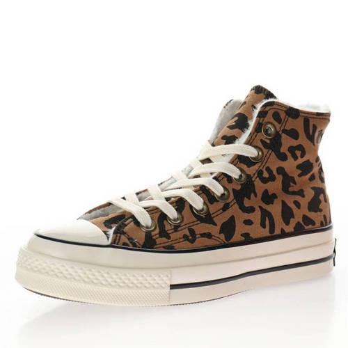 "Converse Chuck Taylor All Star 1970s Hi""Leopard/Brown Black"" 加绒美洲豹纹深棕黑 162050C"