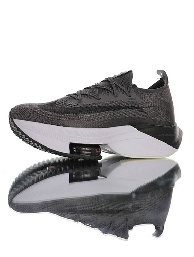 Nike Air Zoom Alphafly NEXT% 2020全新耐克 助力运动员突破极限 破2代马拉松气垫超跑竞速运动慢跑鞋 深灰黑白配色 CI9925-002