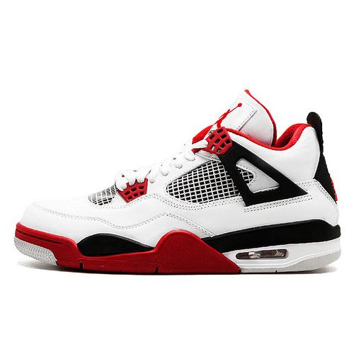 "Air Jordan 4 ""Fire Red"" 2018最新版本 白红配色 308497-160"