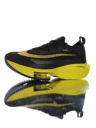 Air Zoom Alphafly NEXT% 2020全新耐克 助力运动员突破极限 破2代马拉松气垫超跑竞速运动慢跑鞋 黑交通黄配色 CI9925-700