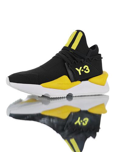 Adidas Y-3 Kusari II Leather YohjiYamamoto三本耀司 库萨日系列复古老爹鞋 RB厚重大底制 全头层皮鞋面 超软皮内脚垫 黑黄白配色