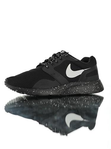 Nike Wmns Kaishi NS 原装透气双层呼吸面料 具开发打造 原比值轻量EVA发泡大底 耐克经典开始小跑三代休闲百搭跑步鞋 黑白泼墨配色