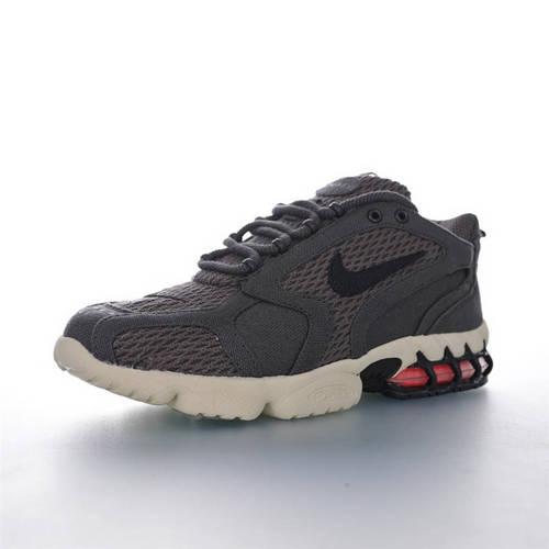 Stussy x Nike Air Zoom Spiridon Caged 2 美潮牌斯图西联名 斯皮里东牢笼2代系列 性价比版本 麻布暗灰黑配色 CQ5486-800