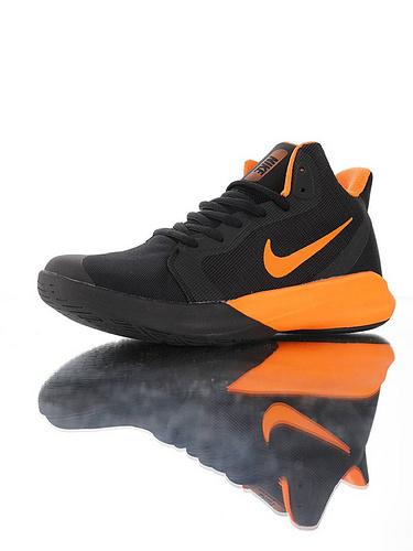 "Nike Precision III ""Black Orange"" 全新入门级球鞋 耐克精密三代系列休闲运动文化篮球鞋 黑橘黄配色"