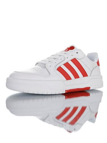 Adidas Neo Entrap 中国新年鼠年新年迪士尼系列 采用超软头层移膜皮革鞋面 追赶系列轻便休闲运动百搭板鞋 白大学红米奇配色 FW7010