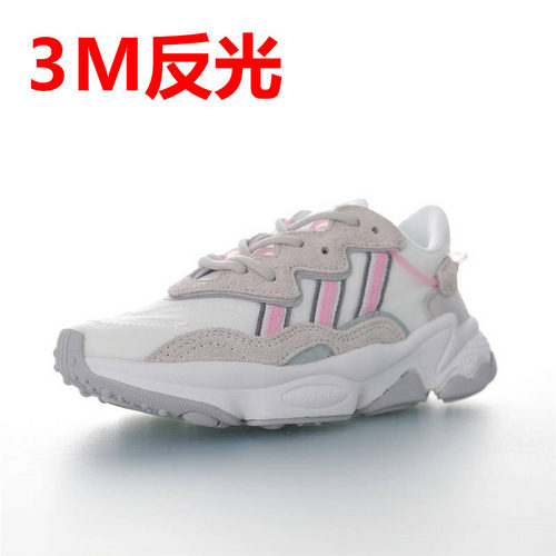 Adidas Ozweego adiPRENE 杨幂代言款 全新复古鞋型 阿迪达斯缓震复古老爹休闲运动慢跑鞋 网纱布白浅灰粉3M配色 EG8729