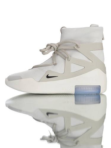 【40---48】Fear of God x Nike Fear of God 1 2019神级之鞋 恐惧之神联名 牛巴革材质 韩国进口拉链扣 充正混卖级别 搭载真纤维柱 哑灰配色