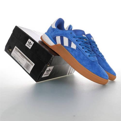 Adidas Originals Skateboarding 3ST.004 Suede 阿迪达斯爆米花缓震低帮休闲运动专业滑板板鞋 麂皮宝蓝白生胶黄配色 DB3552
