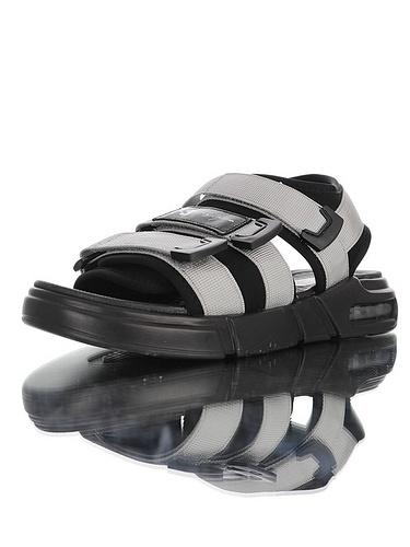 古驰拖鞋货源Y-3 Air KAOHE Sandals 三本耀司创意改良打造 广东硬质高端礼盒 超轻PU鞋底  气垫魔术贴轻量休闲运动沙滩凉鞋鞋 银灰黑配色 190603