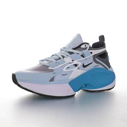 Nike Signal D/MS/X 让运动变得更高端时尚 复古老爹风增高效果 耐克邂逅系列休闲运动老爹风慢跑鞋 军舰蓝灰白粉配色 AT5303-181