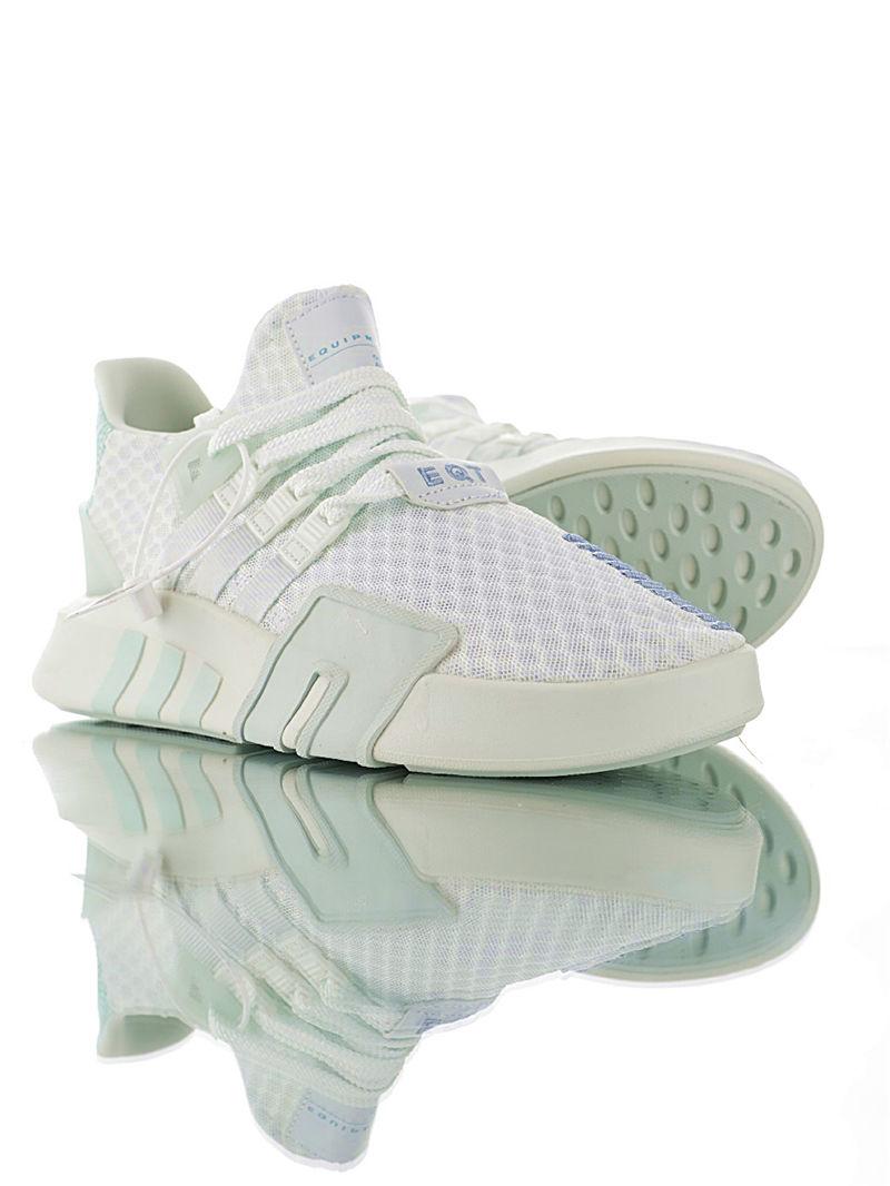 EQT Basketball ADV 中帮机能编织潮鞋 高性价比绝对值版本 蜂窝呼吸白翠玉兰配色